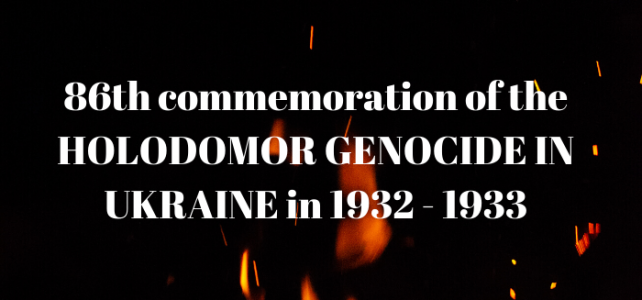 86th commemoration of the Holodomor Genocide in Ukraine
